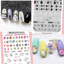 2017 NEWEST colorful stone 3d nail art sticker SOLONAIL series and album awesome stiker decal nail art decal tools