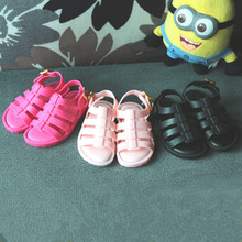 Mini Melissa Rome Girls Sandals for kids fashion pink sandals children Children Melissa Jelly Shoes sandals flats Summer Sandals
