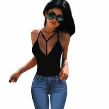 Feitong Women Sexy Crop Tops Fashion 2017 Summer Y Strap Bustier Slim Fitting Bra Tank Tops Corset Clubwear Bralette Tank Tops