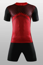 2017 Men's Soccer kits print Long sleeve jersey football sets training Sports suit soccer jerseys gules