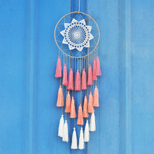 Handmade Ombre Dream Catcher Indian Style Feather Pendant Dreamcatcher Creative Car Hanging kids Room Decorations For Home(China)