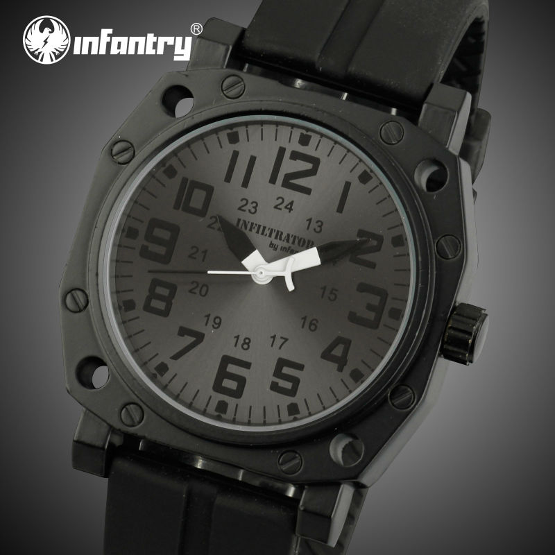 INFANTRY Military Mens Sports Watches Casual Style  Quartz Watches Male Rubber Strap Wristwatches Relogio Masculino<br><br>Aliexpress