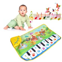 M89CChildren Piano Mat Animal Pattern Baby Touch Play Keyboard Musical Carpet Hot