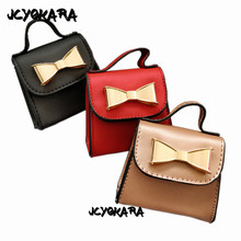 JCYOKARA Toddler Kids Mini Bowtie Messenger Bag 2017 Latest Children Small Bag Girls Bowtie Chain Bag Baby Handbags Size 9*9cm