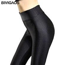 bf78885375f BIVIGAOS Fall Winter Hot Thick Velvet High Waist Shiny Leggings Plus Size  Warm Leggings Soft Elastic Pants Black Leggings Women