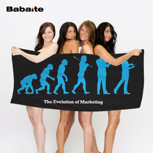 Babaite The Evolution Human Marketing Golf Gift Beach Bath Sports Travel Towel Swimming Wrap Blanket Quick Dry Pool Sheet Mat(China)