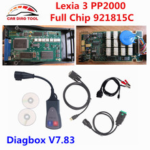 Free Ship Lexia3 PP2000 Diagbox V7.83 Lexia 3 Full Chip 921815C With Original Gold Edge Lexia-3 V48 PP2000 V25 PSA XS Evolution(China)
