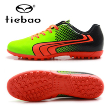 TIEBAO Professional Chuteira Futebol Soccer Shoes Adult Sports TF Turf Soles Blue Sneakers Men Teenagers Futebol Training Boots