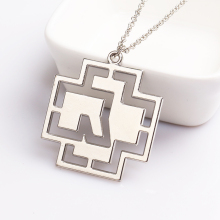Germany Hip-Hop Rammstein Rock Band Necklace Silver Plated Hollow Pendant Punk Fashion Women Men Chain Necklace Jewelry