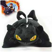 Brand How to Train your Gragon 2 Night Fury Plush Kids Pillow Toy Toothless Nightfury Dragon Stuffed Animal Dolls