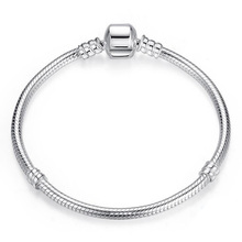 Buy Top Quality14-22cm Silver Snake Chain Jewelry 925 Sterling Silver Bracelet Fitting European Popular Charms for $22.03 in AliExpress store