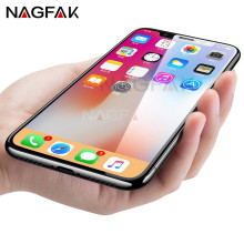 NAGFAK 4D Full Cover Tempered Glass for iphone X 10 Protective Glass Screen Protector for iPhone 10 X 9H Protective film