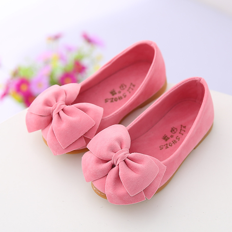 2017 spring autumn new childrens casual shoes girls princess bow solid Peas shoes safty quality non-slip shoes for kids<br><br>Aliexpress
