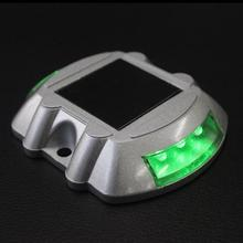 4pcs/lot  Newly manufactured High quality led solar cat eyes road stud solar paving light Non-flashing solar sign light SRS-005