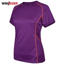 Short Sleeve Women Sport T Shirt Running Tennis Female Top O-Neck Tops Verano Mujer 2017 Fitness Camping Outdoor Sweatshirt
