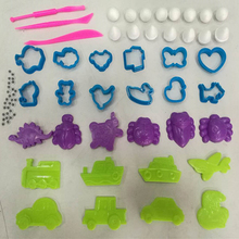 75pcs Color Play Dough Model Light Clay Tool Toys Creative 3D Plasticine Tools Playdough Modeling Clay Set Gift for Children(China)