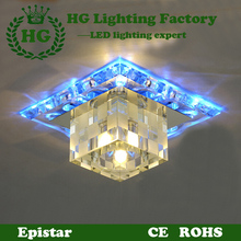 Acrylic crystal LED decorative ceiling chandelier light,applicable for hallways,corridors,porches and living rooms