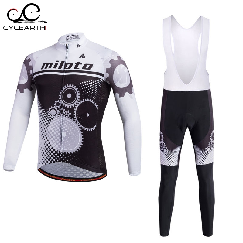 Miloto 2016 Cycling Jersey long Sleeve Bicycle Cycling Clothing Bike Wear Shirt sport Maillot Ropa Ciclismo Bib Pants Breathable<br>