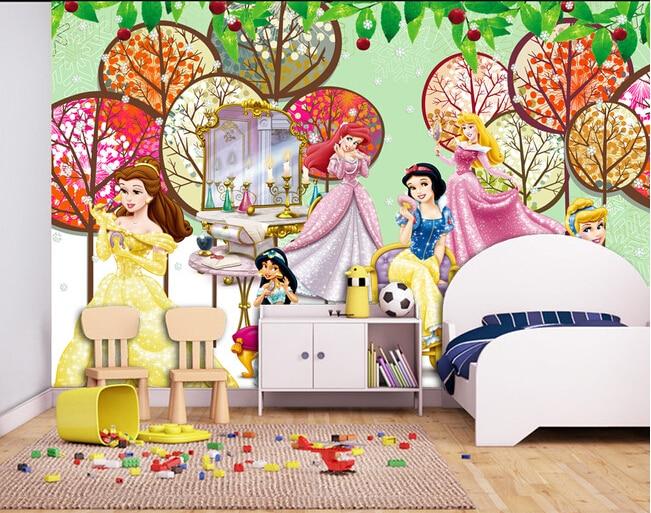 Custom papel DE parede infantil, the princess murals for the bedroom of children room  wall fabric papel DE parede <br>