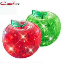 Free shipping Crystal Apple stereoscopic 3D puzzle. Spatial thinking lighting assembly disassembly Apple. Christmas gift