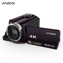 Andoer HDV-534K 4K 48MP WiFi Video Camera Digital 1080P Full HD 3inch Capacitive Touchscreen IR Infrared Night Sight 16X Zoom(China)