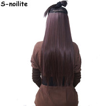 "S-noilite 100% Natural & Thick Longest 18-30"" Clip in on Hair Extensions 3/4 Full Head 5 Clips ins Synthetic Hair Extention(China)"