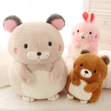 1pc 28cm cartoon sweet fat round mouse rabbit bear bunny cute plush doll hold pillow creative children girl stuffed toy