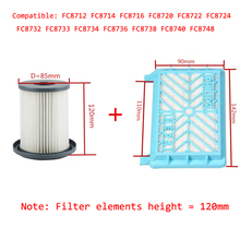 Buy 2pcs Vacuum Cleaner Accessories HEPA Filters+12cm Filter Element Philips FC8712 FC8714 FC8716 FC8720 FC8722 HEPA Filter for $14.99 in AliExpress store