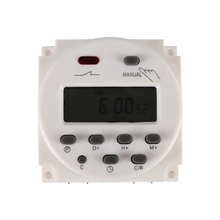 DC 12V/220V Digital LCD Power Timer weekly 7days Programmable Time Switch Relay 8A TO 16A TIMER 10A mini H7