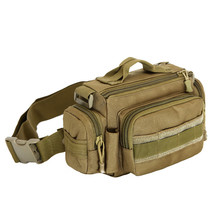 Military enthusiasts nylon waterproof waist bag men's and women's chest bag 3 p SLR camera travel Men's bags Free shipping