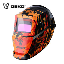 DEKOPRO Black Fire Solar Auto Darkening  MIG MMA Electric Welding Mask/Helmet/Welding Lens for Welding Machine or Plasma Cutter