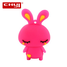 Hot Sale Cartoon Mashimaro USB Flash Drive 8gb 16gb 32gb 64gb Pendrive U Disk Pen Driver Cute Pink Memory Stick For Kids Gift(China)