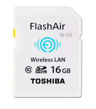 TOSHIBA Flash Air W-03 16GB 32GB SD Card Class 10 Wireless SDHC Tarjeta Memory Card Wifi SD Carte Memoria Card for Camera(China)