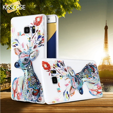 KISSCASE 3D Print Colorful Transparent Clear Soft TPU Luminous Case Cover For Samsung Galaxy S7 S6 Edge Note 5 J5 J7 A5 A7 2016