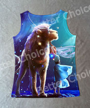 Track Ship+Vintage Vest Tanks Tank Tops Camis Giant Lion Fairy Girl in Shiny Night Cosmos Leo 0311