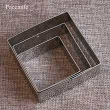 Facemile 3Pcs/Set Plaque Cutter Cookies Frame Cake Oval Square Rectangle Fancy Stainless Mold 52128