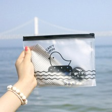 Waterproof Travel Cartoon Chicken Print Make Up Bags 200x140mm Transparent Cosmetic Bag Pouch Case Pencil Bags Toiletry Bag