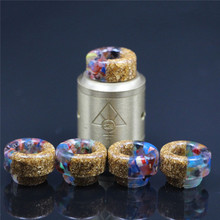 2pcs 528 drip tip Resin Drip Tip cap Electronic Cigarette wide bore Mouthpiece for Goon RDA 528 thread tanks Atomizer etc