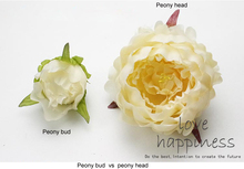 30pcs/lot 12cm artificial peony head 7cm peony bud DIY flower wall ball home party wedding diy accessories photo background(China)