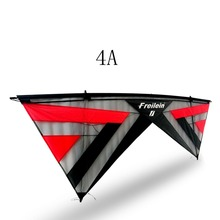 2.42M Large Stunt Kite Quad Line Outdoor Power Sport Kite Include Kite Flying Line Handles(China)