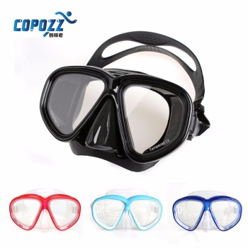 High-Quality  Diving Mask  Silicone Gear Scuba Equipment Snorkel Anti-Fog UV Waterproof Swim/Dive Glasses Men Women Sport