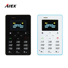 Russian Keyboard AIEK M5 Card Cell Phone 4.5mm Ultra Thin Pocket Mini Phone Quad Band Low Radiation AEKU M5 Card Pocket Phone