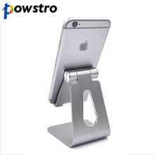 Powstro Aluminum Stand Universal Mobile Phone Holder Metal Desk Bracket Holder For iPhone Ipad Tablet PC Flexiable