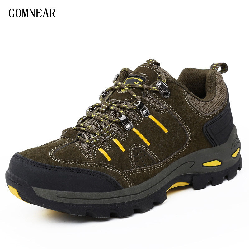 GOMNEAR Top quality Big Size Mens hiking shoes Outdoor Breathable Antiskid tourism shoe hunting Leisure trekking trend sneakers<br>