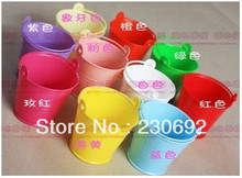 Free shipping wedding favor box Colorful beach pail which made of PP plastic used as candy packing