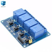 1pcs 4 channel relay module with optocoupler. Relay Output 4 way relay module for arduino In stock