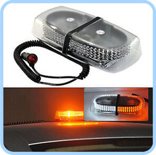 Higher star DC12V 24W 130 Led mini warning lightbar,police emergency lights with Cigarette lighter,magnet mounted,waterproof(China)