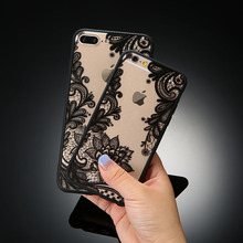 Sexy Retro Floral Phone Case For Apple iPhone 7 6 6s For Galaxy S6 S7 S8 S8 Plus Lace Flower Hard PC+TPU Cases Back Cover Capa