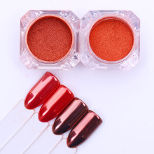 2g BORN PRETTY Rose Gold Mirror Nail Powder Dust Manicure Chrome Nail Art Glitters Pigment Decoration for Nails 2 Colos