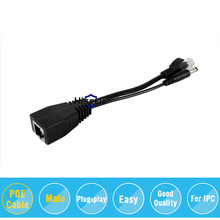 Tape screened POE Cable, POE Adapter cable, POE Splitter Injector Power supply module 12-48v IP camera accessories(China)